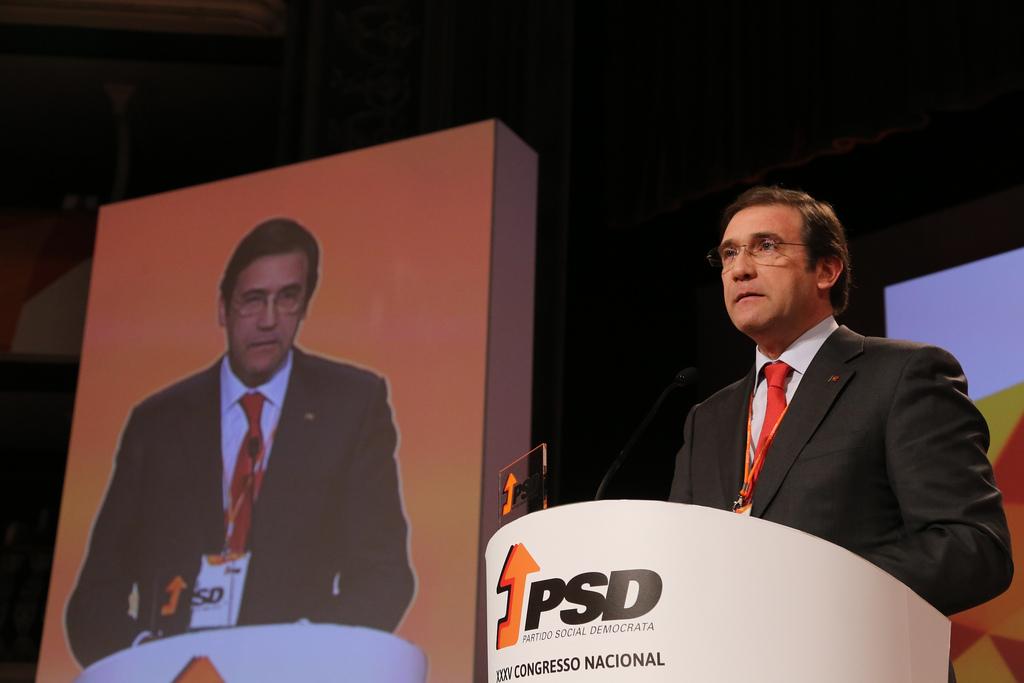 Presidente do PSD e primeiro-ministro, Pedro Passos Coelho