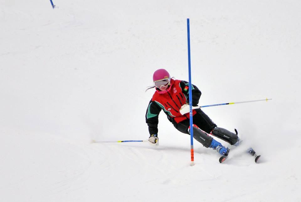 Camille Dias treina para os Jogos de Inverno em Sochi 2014