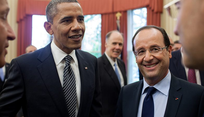Barack Obama e François Hollande