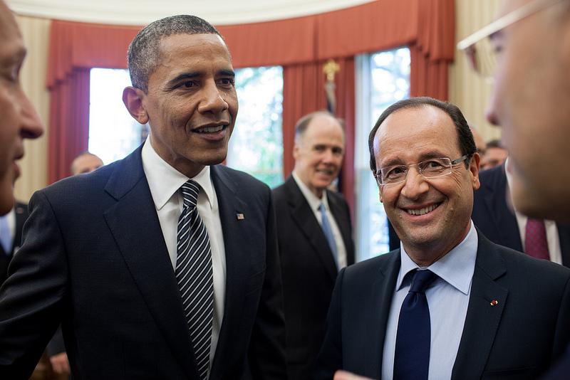 Barack Obama e François Hollande