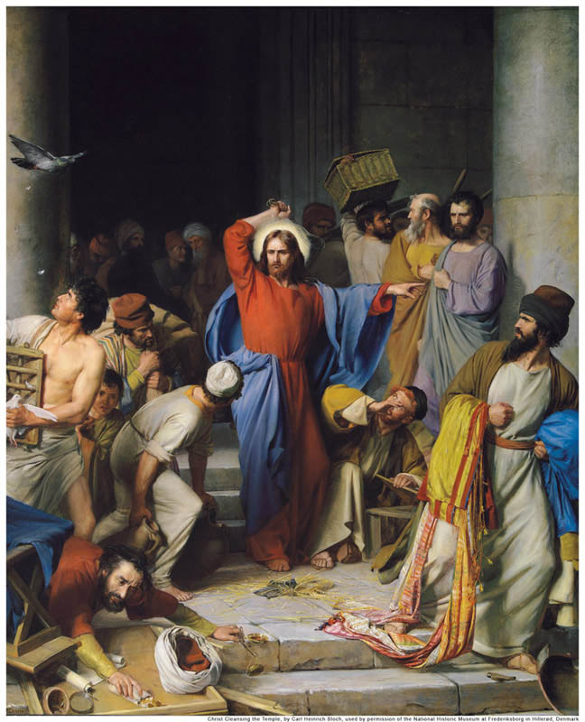 Purificação do Templo (1875), óleo de Carl Heinrich Bloch