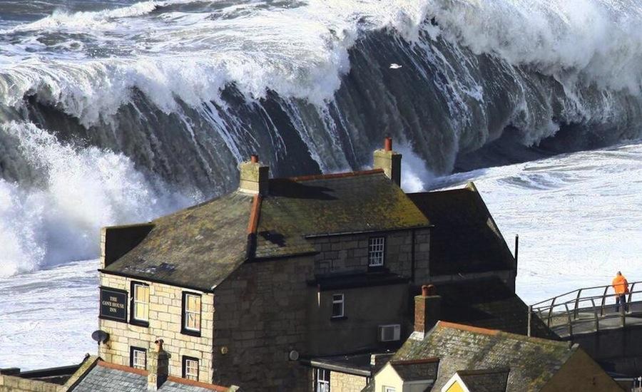 Tempestade em Dorset, no Reino Unido