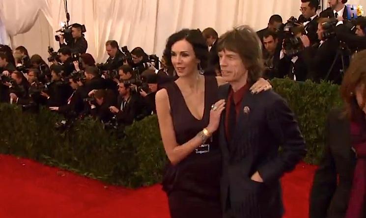 L'Wren Scott com Mick Jagger