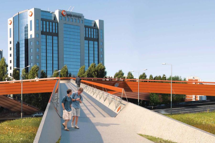 Projeto da ponte pedo-ciclável sobre a Segunda Circular