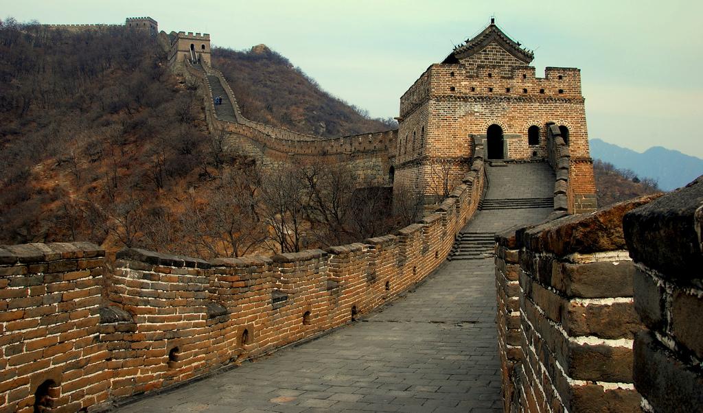 A Grande Muralha da China na zona de Mutianyu
