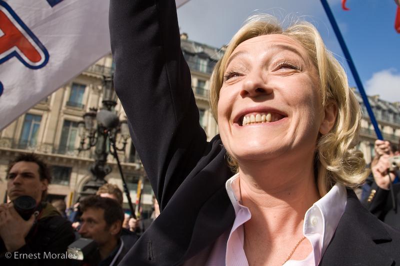 Marine Le Pen num comício da Frente Nacional