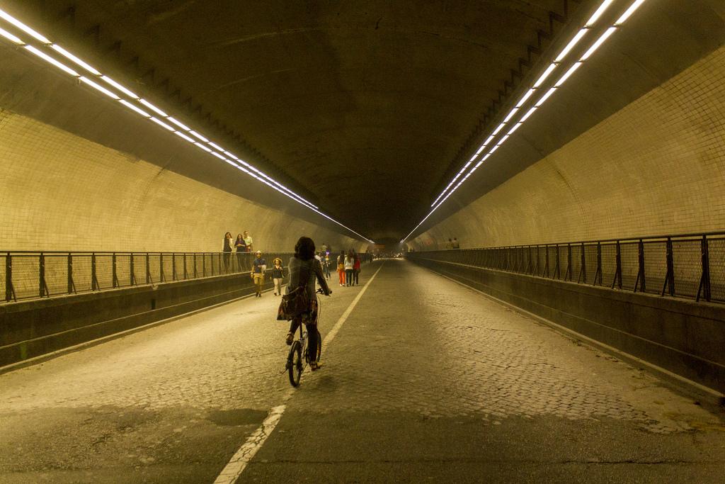 O túnel da Ribeira, no Porto