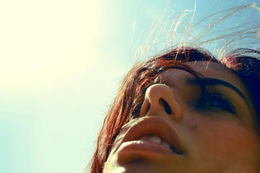 rapariga ao sol