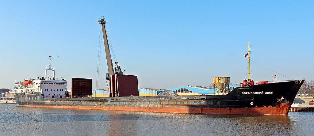 Navio russo  Sormovskiy 3056, construído nos ENVC - Estaleiros Navais Viana Do Castelo