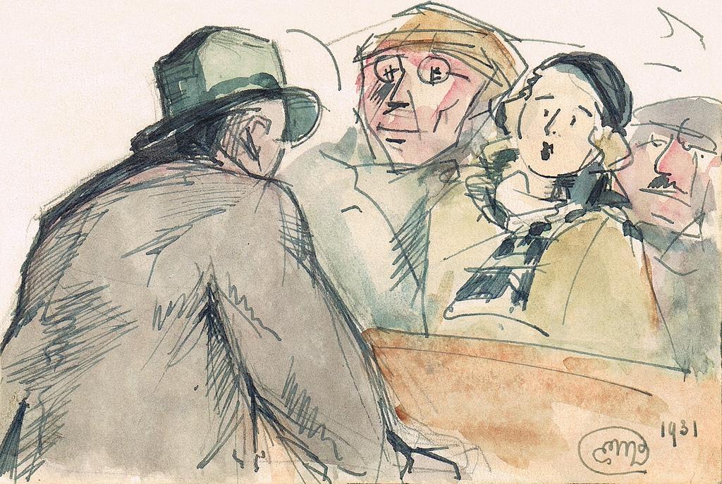 """Rapto"", pelo artista belga Emile Deshayes (1931)"