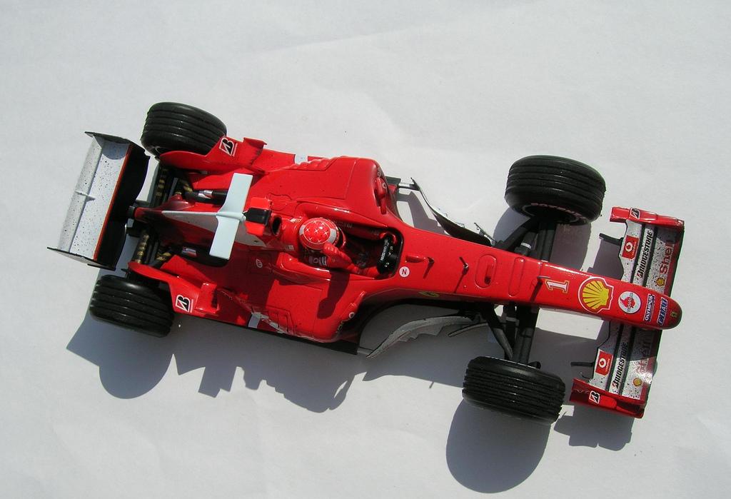 Michael Schumacher no Grande Prémio do Bahrein, em 2004