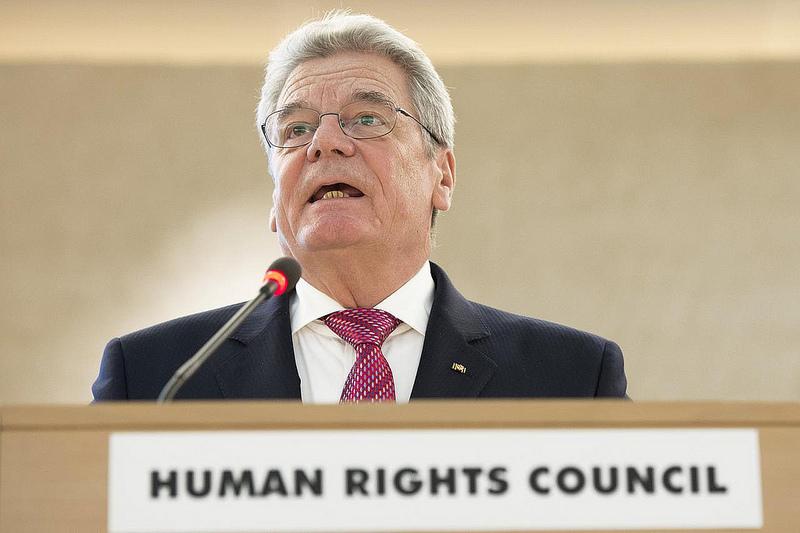 O presidente da Alemanha, Joachim Gauck