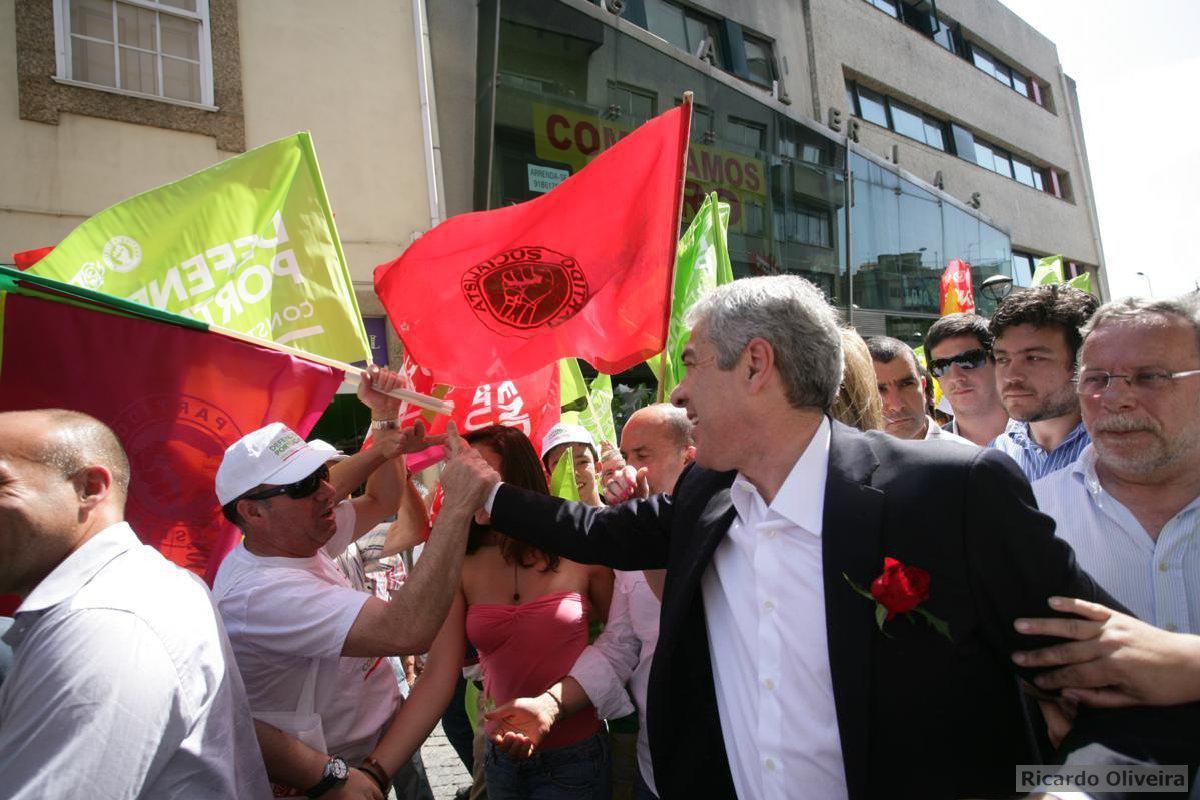 José Sócrates em campanha para as Legislativas 2011