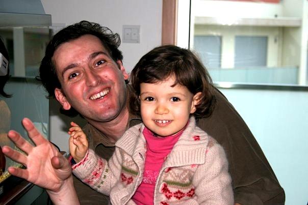 Cláudio Rio Mendes com a filha, Adriana