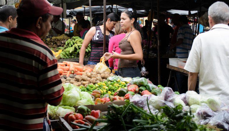 Mercado em Caracas, na Venezuela