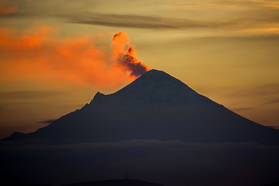 Erupção do vulcão Fuego, na Guatemala