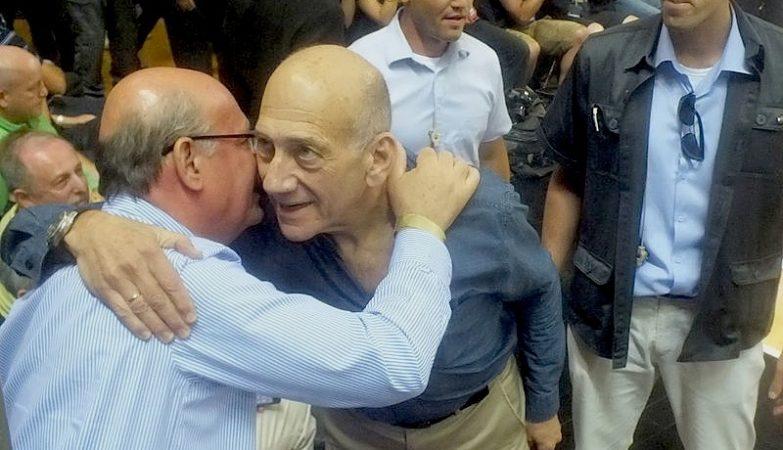 O ex-primeiro-ministro de Israel, Ehud Olmert