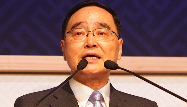 O presidente da Coreia do Sul, Chung Hong-won