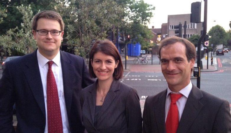 Os 3 candidatos trabalhistas eleitos em Stockwell. À direita, o português Guilherme Rosa.
