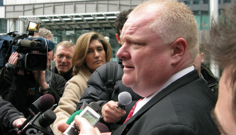 O controverso presidente da Câmara de Toronto, Rob Ford