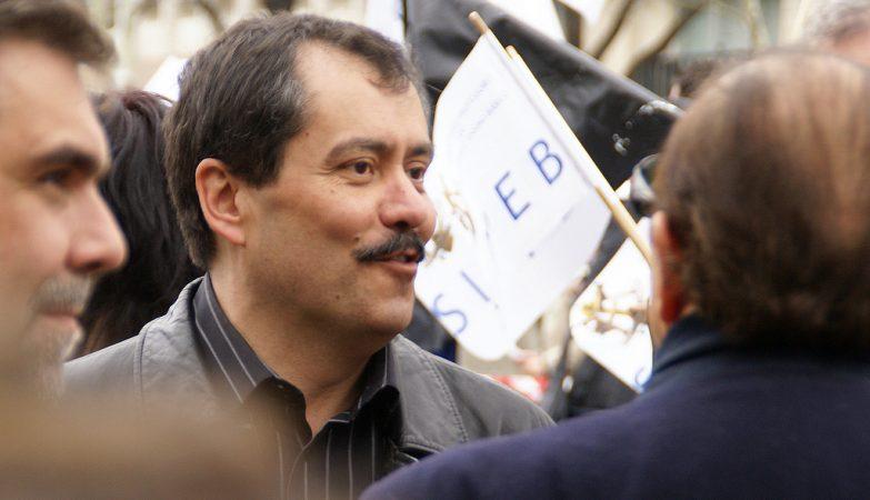 Mário Nogueira, da FENPROF, numa manifestação de professores