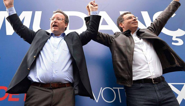 Francisco Assis e António José Seguro durante a campanha para as eleições europeias