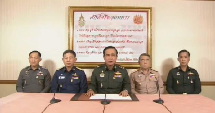 Prayuth Chan-ocha anunciou o golpe de Estado esta quinta-feira, 22 de maio
