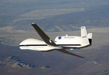 Global Hawk, drone controlado remotamente, desenvolvido pela NASA para o Exército americano, para missões a grande altitude