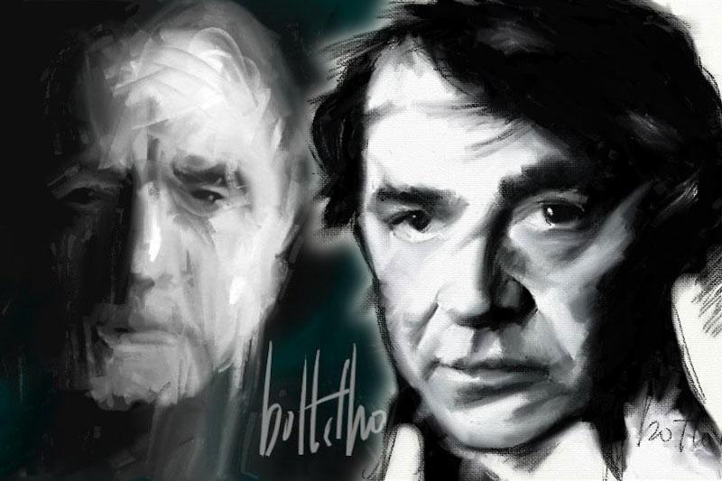 Manuel Alegre e Miguel Sousa Tavares, composição com retratos de Carlos Botelho