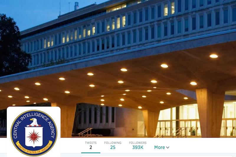Foto da sede da CIA em Langley no perfil da agência no Twitter
