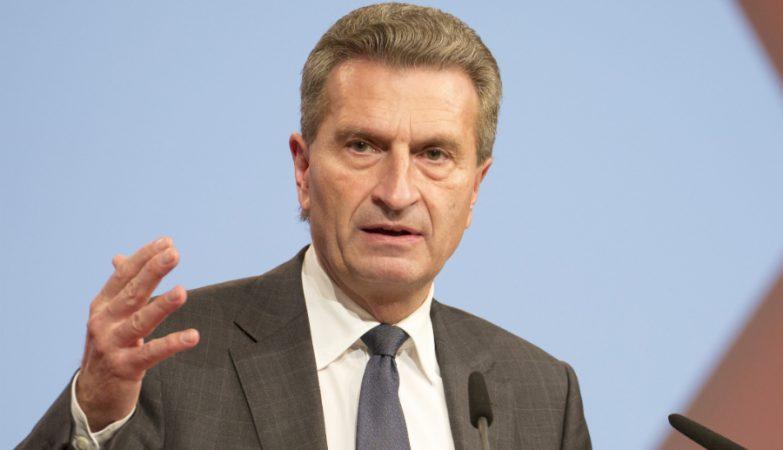 Günther Oettinger, comissário europeu da Energia