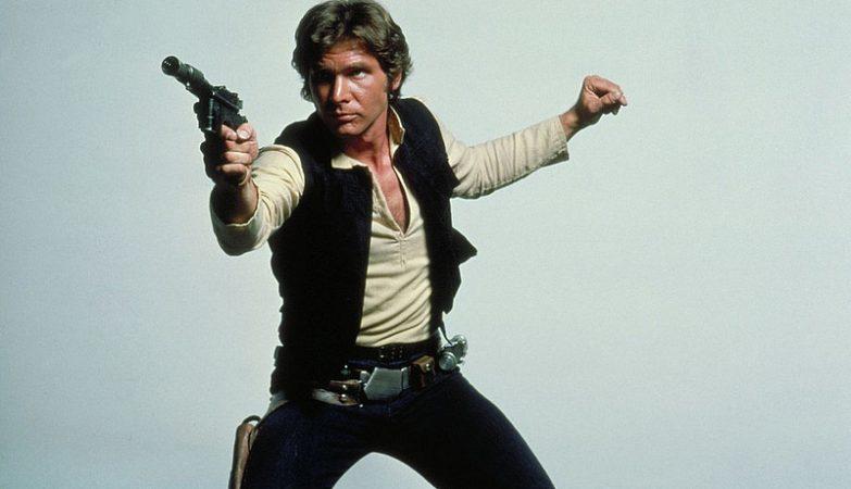 Harrison Ford como Han Solo, na saga Star Wars