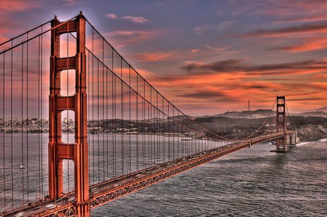 Uma das mais famosas pontes do mundo, a Golden Gate, em São Francisco, nos Estados Unidos