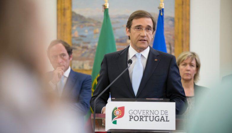 Pedro Passos Coelho com Paulo Portas e Maria Luís Albuquerque