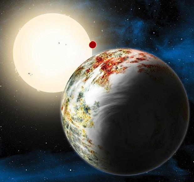 Ilustração conceptual da mega-Terra Kepler-10c