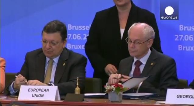 Durão Barroso e Herman Van Rompuy
