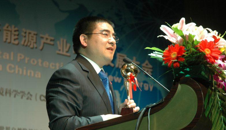 O milionário e filantropo chinês Chen Guangbiao