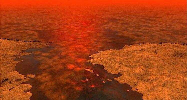 Titã terá lagos de hidrocarbonetos e uma atmosfera espessa