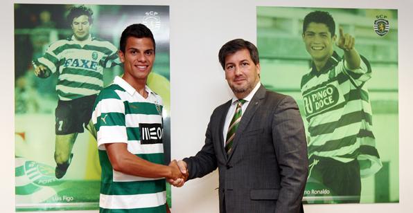 André Geraldes com o presidente do Sporting, Bruno de Carvalho