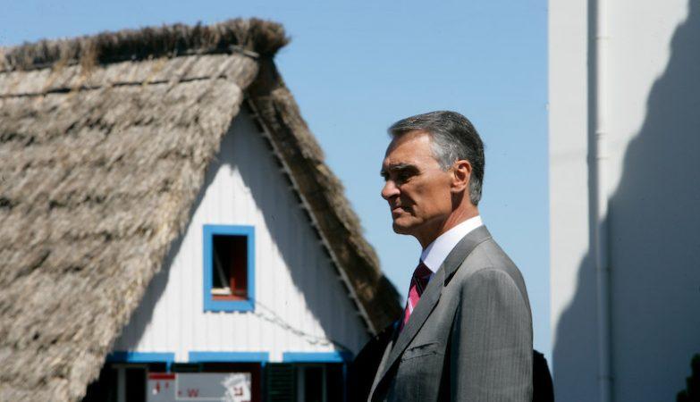 O presidente da República, Aníbal Cavaco Silva, em visita à Madeira