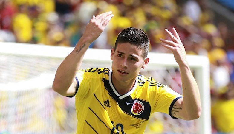 James Rodríguez pela Colômbia no Mundial 2014