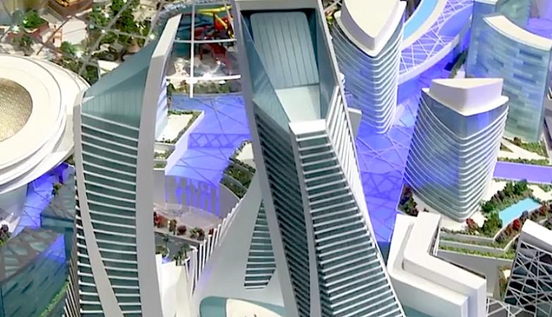 Detalhe do projecto do Mall of the World no Dubai