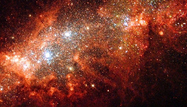 Uma supernova vista pelo Hubble