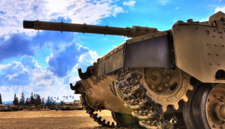 Tanque da Divisão Blindada do exército israelita