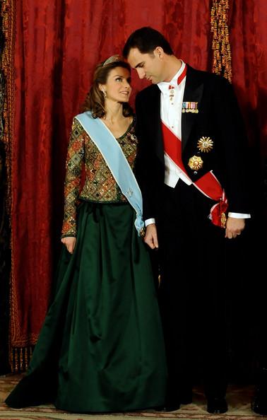 Os reis de Espanha, Felipe VI e Letizia