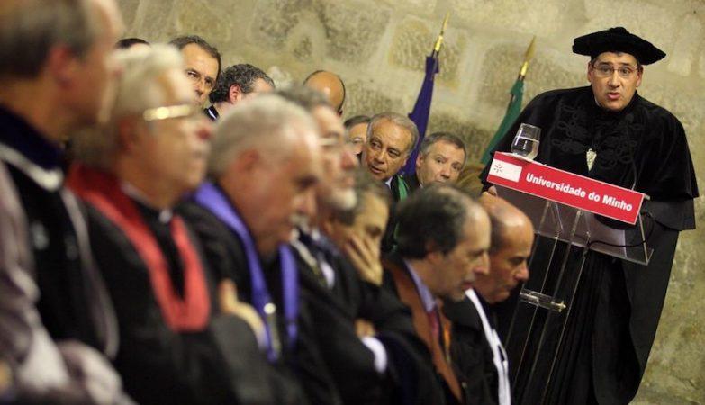 António M. Cunha discursa na sua cerimónia de tomada de posse como reitor da Universidade do Minho,