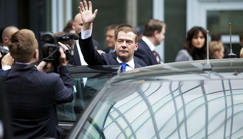 O primeiro-ministro russo, Dmitry Medvedev, em Oslo