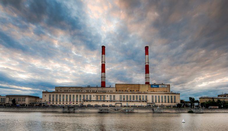 Instalações da Gazprom junto ao rio em Moscovo
