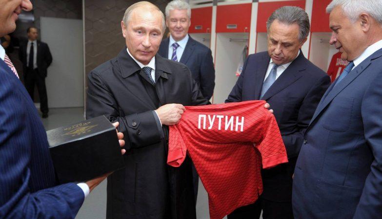 Putin na inauguração da Arena Otkrytie