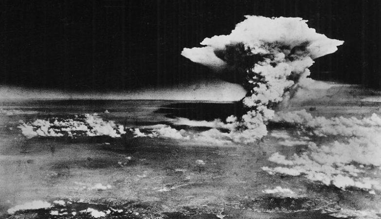 Hiroshima, logo após o lançamento da bomba atómica em 1945